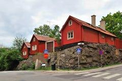 Stockholm. De oude huizen royalty-vrije stock afbeeldingen
