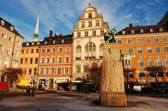Stockholm, de Oude Stad Stock Afbeeldingen