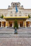 STOCKHOLM - 18. DEZEMBER: Der Eingang zum königlichen Theater Dramaten w Lizenzfreie Stockbilder