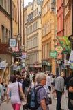 Stockholm, die alte Stadt Stockfotos