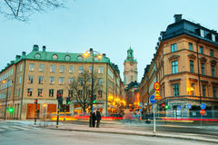 Stockholm at dusk Royalty Free Stock Images