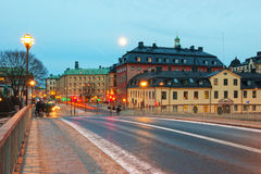 Stockholm at dusk Royalty Free Stock Photography