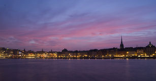 Stockholm at dusk Royalty Free Stock Image