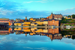 Stockholm early summer morning Royalty Free Stock Images