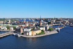 Stockholm, eiland Riddarholmen stock fotografie