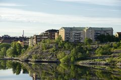 Stockholm embankment Stock Images