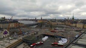 Stockholm fyrkant från Katarina Elevator arkivfilmer