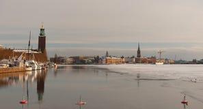 Stockholm gamla stan panorama Stock Photos