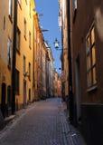 Stockholm gammal stad (Gamla Stan) Fotografering för Bildbyråer