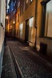 Stockholm-Gasse stockfotos