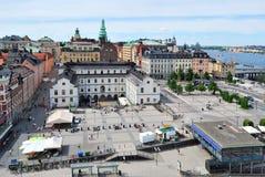Stockholm, gebied Sodermalmstorg stock foto