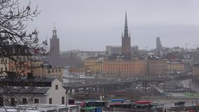 Stockholm on a gloomy March day. Sweden stock video footage