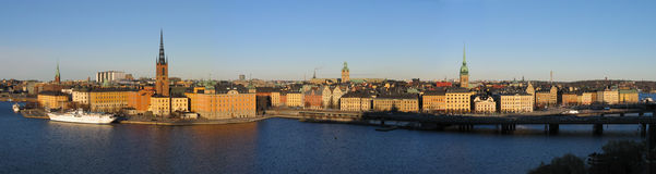 Stockholm. Grand panorama. Photos libres de droits