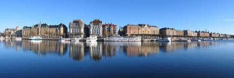 Stockholm. Groot panorama. royalty-vrije stock afbeeldingen