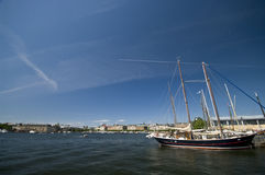 Stockholm harbor royalty free stock images