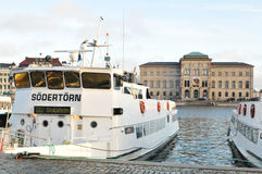 Stockholm harbor Stock Image