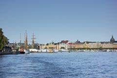 Stockholm harbor Royalty Free Stock Photo