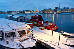 Stockholm Harbor. A view of Stockholm, Sweden Royalty Free Stock Images