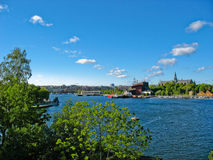 Stockholm harbour and Baltic Sea Royalty Free Stock Images