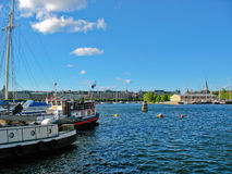 Stockholm harbour and Baltic Sea Royalty Free Stock Photography