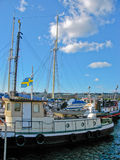 Stockholm harbour and Baltic Sea Royalty Free Stock Photos