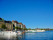Stockholm harbour and Baltic Sea Stock Photo