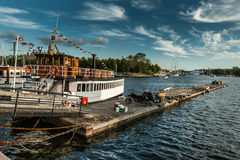 Stockholm harbour Stock Photo