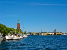Stockholm harbour and lake Malaren Stock Photos