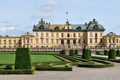 Stockholm. Het Paleis van Drottningholm stock foto's