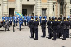 Stockholm Honor Guards Stock Images