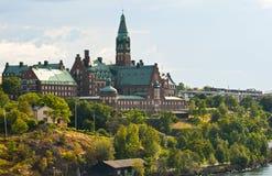 Stockholm, horizontal de ville Photos stock