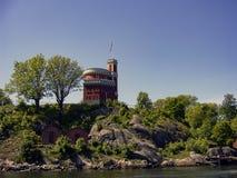 Stockholm huvudstaden av Sverige, är spridning över en slutsumma av 14 öar Arkivbilder