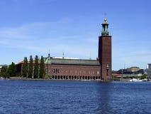 Stockholm huvudstaden av Sverige, är spridning över en slutsumma av 14 öar Royaltyfri Bild