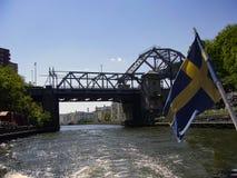 Stockholm huvudstaden av Sverige, är spridning över en slutsumma av 14 I Royaltyfria Foton