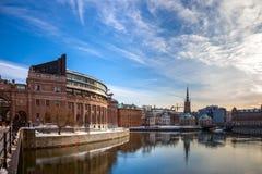 Stockholm i vinter royaltyfri fotografi