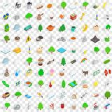 100 stockholm icons set, isometric 3d style. 100 stockholm icons set in isometric 3d style for any design vector illustration Stock Image