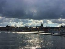 Stockholm im Sonnenlicht Stockbild