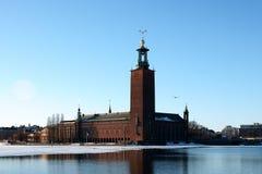 Stockholm im Winter Stockbild