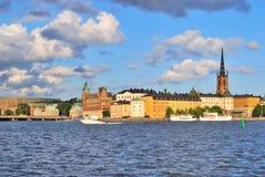 Stockholm. Island Riddarholmen  at sunset Royalty Free Stock Images