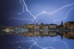 Stockholm ist das Haupt-Schweden Lizenzfreies Stockfoto