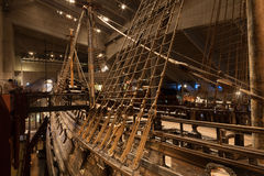STOCKHOLM - 6. JANUAR: Vasakriegsschiff des 17. Jahrhunderts gerettet von Stockfotos