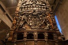 STOCKHOLM - JANUARY 6: 17th century Vasa warship salvaged from Royalty Free Stock Image