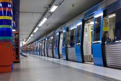 STOCKHOLM 24. JULI: Metrostation in Stockholm Lizenzfreies Stockbild