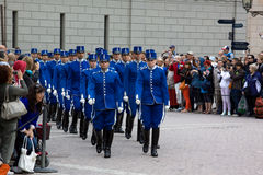 STOCKHOLM - JULY 23: Changing of the guard ceremony with the participation of the Royal  Guard cavalry Stock Image