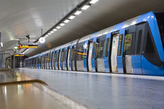 STOCKHOLM-JULY 24 : Metro station in Stockholm Stock Image