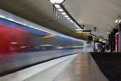 STOCKHOLM-JULY 24: Tunnelbanastation i Stockholm Arkivbild