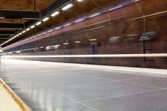 STOCKHOLM-JULY 25: Tunnelbanastation i Stockholm Arkivfoto