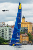 STOCKHOLM - JUNE, 30: Sailboat Esimit Europa 2 departs from Stoc Royalty Free Stock Photos