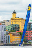 STOCKHOLM - JUNE, 30: Sailboat Esimit Europa 2 departs from Stoc Stock Photo