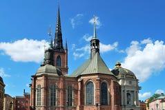 Stockholm, kerk Riddarholmskyrkan royalty-vrije stock foto